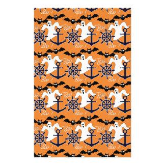Nautical Halloween pattern Stationery