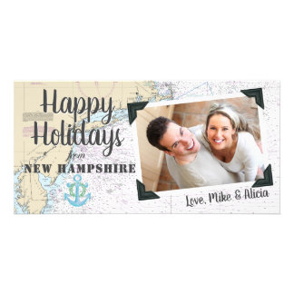 Nautical Happy Holidays from New Hampshire Card