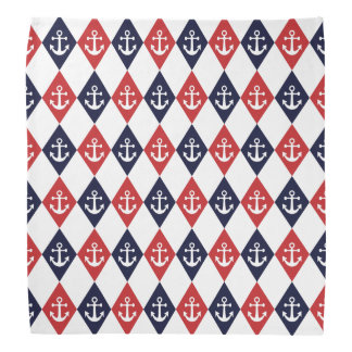 Nautical harlequin pattern bandana
