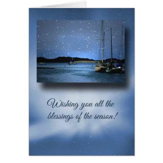 Nautical Holiday Cards Christmas Sail Boats