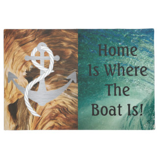 Nautical Home is Where The Boat is Doormat