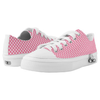 Nautical Hot Pink Gingham Pattern Zipz Shoes