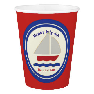 Nautical July 4th  Paper Cup