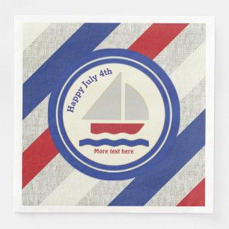 Nautical  July 4th Paper Napkins