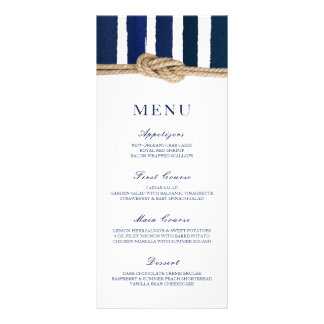 Nautical Knot Navy Stripes Wedding Menu