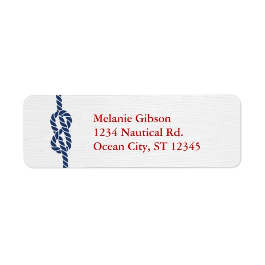 Nautical Knot Return Address Label