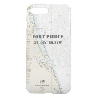 Nautical Latitude Longitude: Fort Pierce, Florida iPhone 7 Plus Case