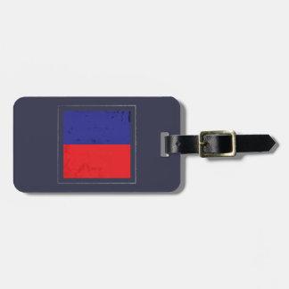 """Nautical Letter """"E"""" Signal Flag Luggage Tag"""