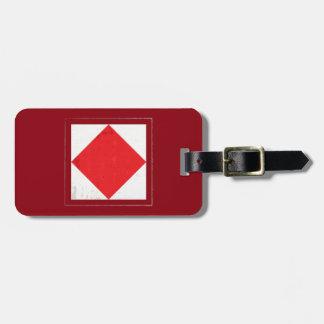 "Nautical Letter ""F"" Signal Flag Luggage Tag"