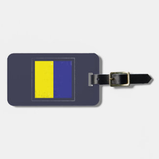 "Nautical Letter ""K"" Signal Flag Luggage Tag"