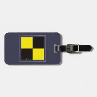 "Nautical Letter ""L"" Signal Flag Luggage Tag"