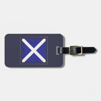 "Nautical Letter ""M"" Signal Flag Luggage Tag"