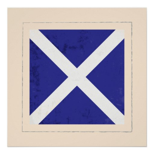 "Nautical Letter ""M"" Signal Flag Poster"