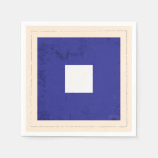 "Nautical Letter ""P"" Signal Flag Paper Napkin"