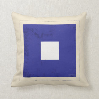 "Nautical Letter ""P"" Signal Flag Throw Pillow"