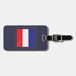 "Nautical Letter ""T"" Signal Flag Luggage Tag"
