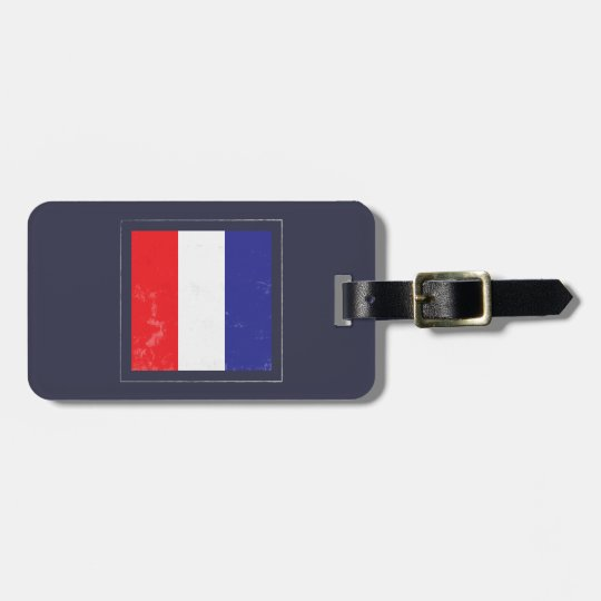"Nautical Letter ""T"" Signal Flag Luggage Tag"
