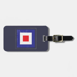 "Nautical Letter ""W"" Signal Flag Luggage Tag"