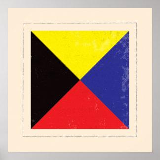 "Nautical Letter ""Z"" Signal Flag Poster"