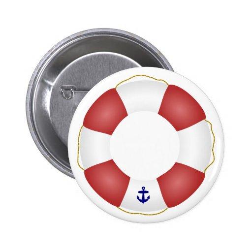 Nautical Life preserver Button