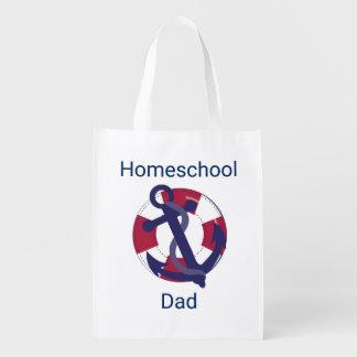 Nautical Life Preserver  Homeschool Dad Reusable Grocery Bag