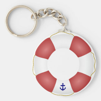 Nautical Life preserver Keychain