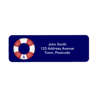 Nautical Life preserver Return Address Label