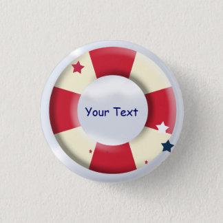 Nautical Lifesaver Design Custom Button