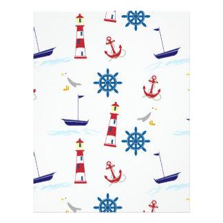 Nautical Lighthouse Background Flyers