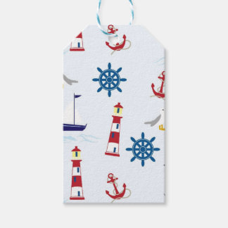 Nautical Lighthouse Background Pack Of Gift Tags