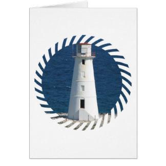 Nautical Lighthouse Greeting Card