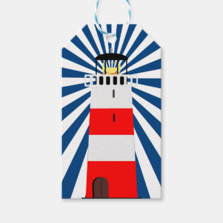 Nautical Lighthouse with Beams Pack Of Gift Tags