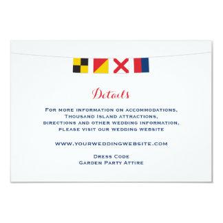 Nautical LOVE Flags Wedding Details Card