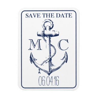Nautical-magnet save the date magnet