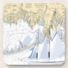 Nautical Map Great South Bay New York coasters. Coaster