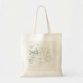 Nautical Map of Nantucket Tote Bag