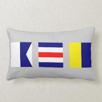 Nautical Maritime Signal Flag ACK Nantucket Pillow