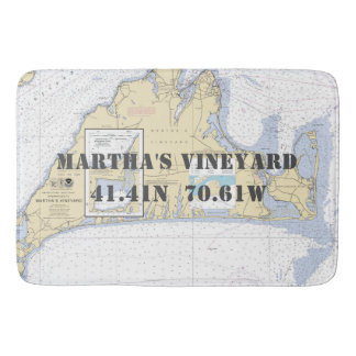 Nautical Martha's Vineyard Chart Bath Mat