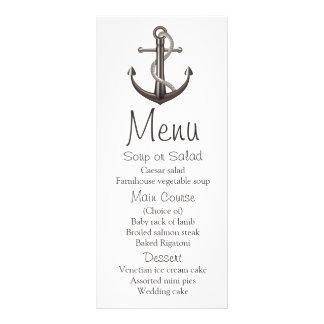 Nautical Menu Ship Anchor Brown Wedding Sailor