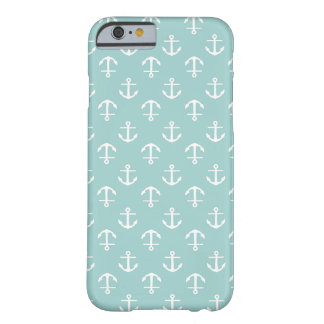Nautical Mint Anchors Pattern Barely There iPhone 6 Case