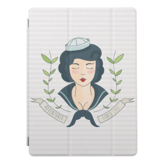 Nautical. Miss Navy Tattoo. iPad Pro Cover