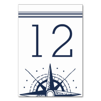 Nautical Modern Table Number