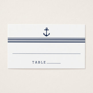 Nautical Modern Wedding Escort Place Cards