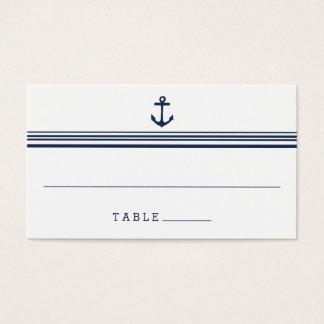 Nautical Modern Wedding Escort Place Cards