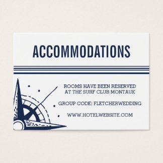 Nautical Modern Wedding Hotel Accommodations Cards