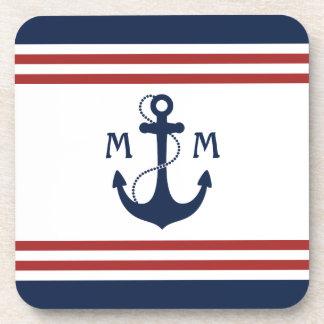 Nautical Monogram Coaster