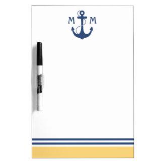 Nautical Monogram Dry Erase Board