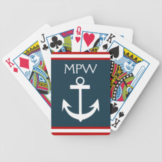 Nautical Monogram - Playing Cards - SRF