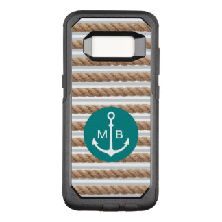 Nautical Monogram Theme OtterBox Commuter Samsung Galaxy S8 Case