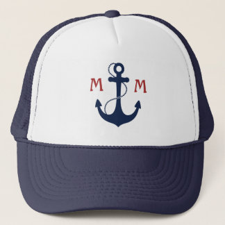 Nautical Monogram Trucker Hat